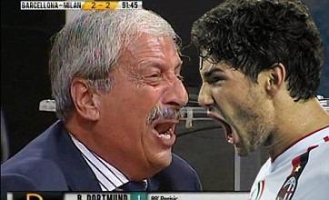 Video: Pato's 24-second goal sends Italian TV host Tiziano Crudeli wild