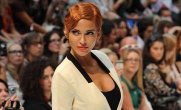 Sarah Harding gets new red hairdo for London Fashion Week catwalk debut