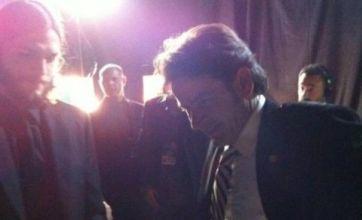 Emmy Award awkwardness as Ashton Kutcher and Charlie Sheen meet backstage
