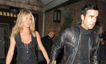 Jennifer Aniston poses with Justin Theroux to prove Brad Pitt wrong