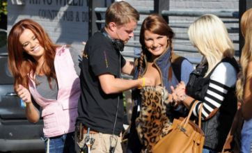 Sam Faiers and cheeky TOWIE crew member caught in the act on set