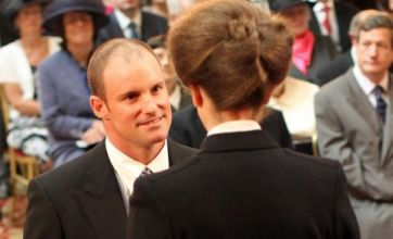 Andrew Strauss collects OBE from Princess Royal after Ashes success