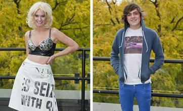 X Factor's Frankie Cocozza and Kitty Brucknell in raunchy jacuzzi session