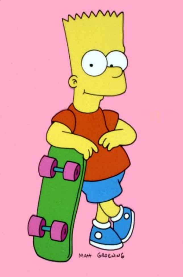 Latest iPhone Wallpapers: Bart Simpson Skateboarding