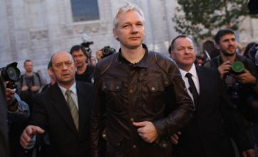 Julian Assange rallies protesters at Occupy London Stock Exchange gathering