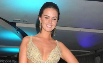 Jennifer Metcalfe dazzles on the catwalk at Liverpool Fashion Week