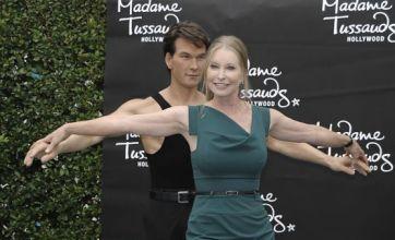 Patrick Swayze 'dances' with Lisa Niemi as waxwork tribute is unveiled
