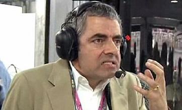 Rowan Atkinson transforms into Mr Bean after Lewis Hamilton's crash with Felipe Massa