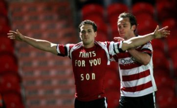 Watch: Billy Sharp dedicates Doncaster Rovers goal to dead son Louie
