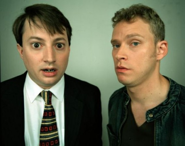 Mark and Jeremy, our gormless Peep Show protagonists.