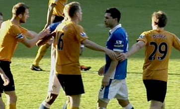 Wigan's Antolin Alcaraz charged after spitting at Wolves' Richard Stearman