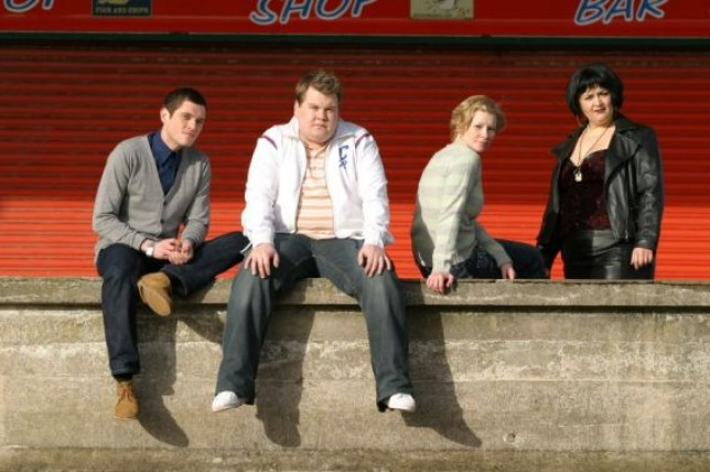 The Gavin and Stacey cast in Southend.