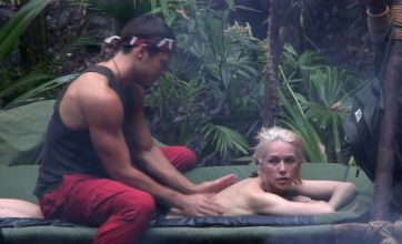 Mark Wright gives Emily Scott sensual massage after I'm A Celebrity trial