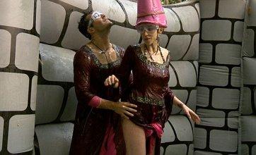 Mark Wright and Emily Scott flirt on bouncy castle in I'm A Celebrity