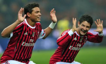 Pato, Robinho and Thiago Silva dance and sing on AC Milan team train