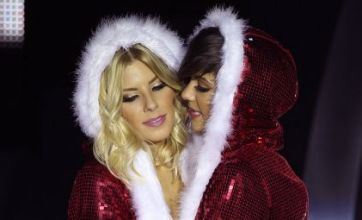 The Saturdays wearing sexy Santa outfits: Caption competition