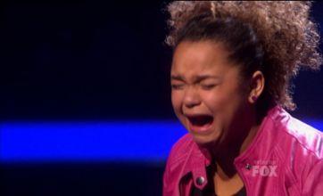 Nicole Scherzinger in tears as Rachel Crow sobs following X Factor USA axe