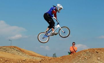 Olympic BMX racer Shanaze Reade tries to find her weight in gold