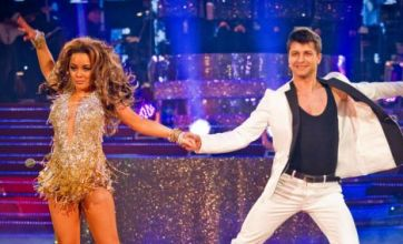 Chelsee Healey narrowly avoids wardrobe malfunction on Strictly final
