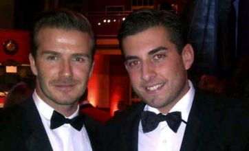 Arg corners 'new best mate' David Beckham and spreads TOWIE word
