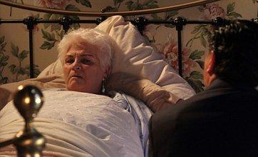EastEnders' Pat Butcher confronted by Derek Branning on her deathbed