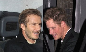 David Beckham parties with Prince Harry after drinks with William