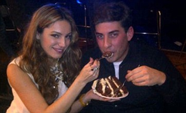 James Argent being fed carrot cake by Kelly Brook: Caption Competition