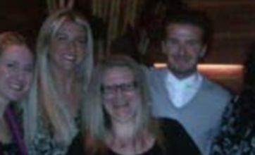David Beckham surprises his little sister at 30th birthday meal
