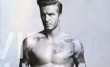 David Beckham looks ab fab as he strips off for H&M underwear shoot