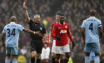 Manchester City vow to appeal against Vincent Kompany red card