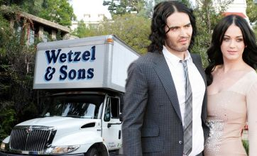 Katy Perry and Russell Brand move on as removal vans turn up to LA home