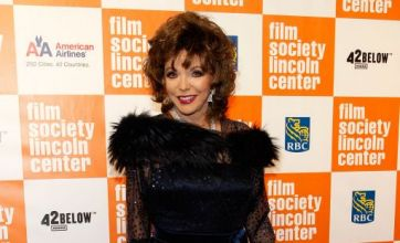 Joan Collins: I don't swan around in lamé and lie on a sofa doing nothing