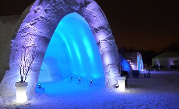 Wrap up warm and try sleeping in an igloo at Montreal snow village