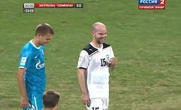 Aleksandr Geynrikh tops the Thierry Henry & Robert Pires penalty routine