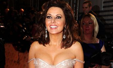 Carol Vorderman's cleavage spills out of her recycled dress at NTAs