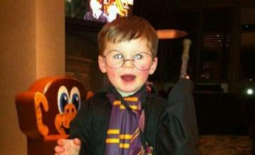 Kai Rooney dazzles dad Wayne dressed as Harry Potter