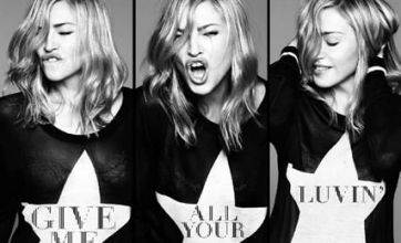 Madonna's Give Me All Your Luvin' premieres in London, Paris, New York