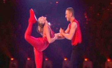 Jennifer Ellison cuts her head open on Dancing On Ice live show