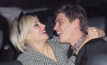 Pixie Lott and boyfriend Oliver Cheshire in loving public display