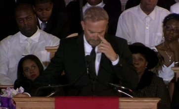 Whitney Houston funeral: Emotional Kevin Costner address steals show