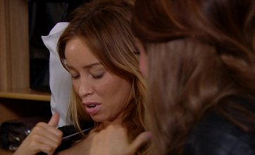 TOWIE saw Lauren Pope admire her new boobs