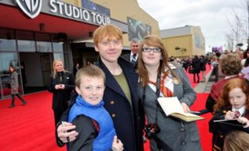 Rupert Grint and Tom Felton greet fans at Harry Potter tour opening