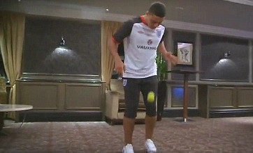 Alex Oxlade-Chamberlain faces Jordan Henderson in keepy-uppy challenge