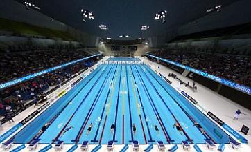 Gemma Spofforth unimpressed by 'awful' London Aquatics Centre lights