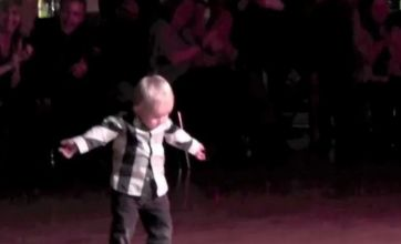 Jailhouse Rock: Jiving toddler is a real crowd-pleaser
