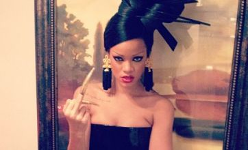 Rihanna posts 'saucy Geisha' pictures from Princess of China video shoot