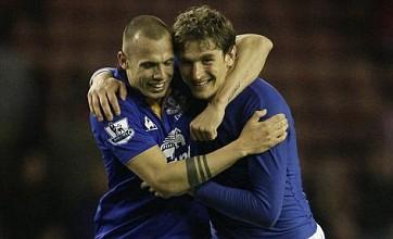 Nikica Jelavic fires Everton into FA Cup semi-final versus Liverpool