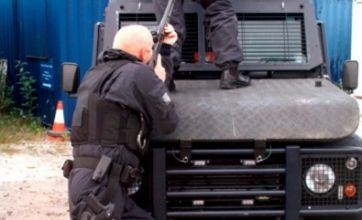 Three firearms officers disciplined after fooling around with their guns