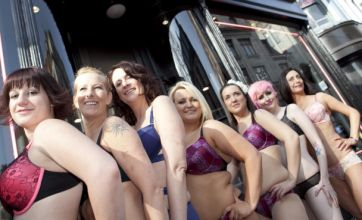 Ann Summers 'real women' strip off in public for National Cleavage Day