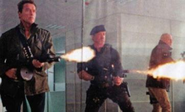 Sylvester Stallone and Arnie get trigger happy in Expendables 2 image